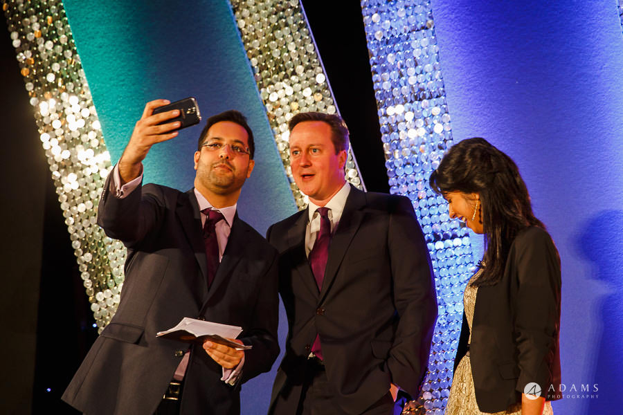 London event photographer David Cameron taking a selfie
