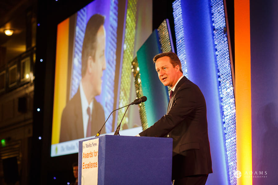 London event photographer David Cameron speech