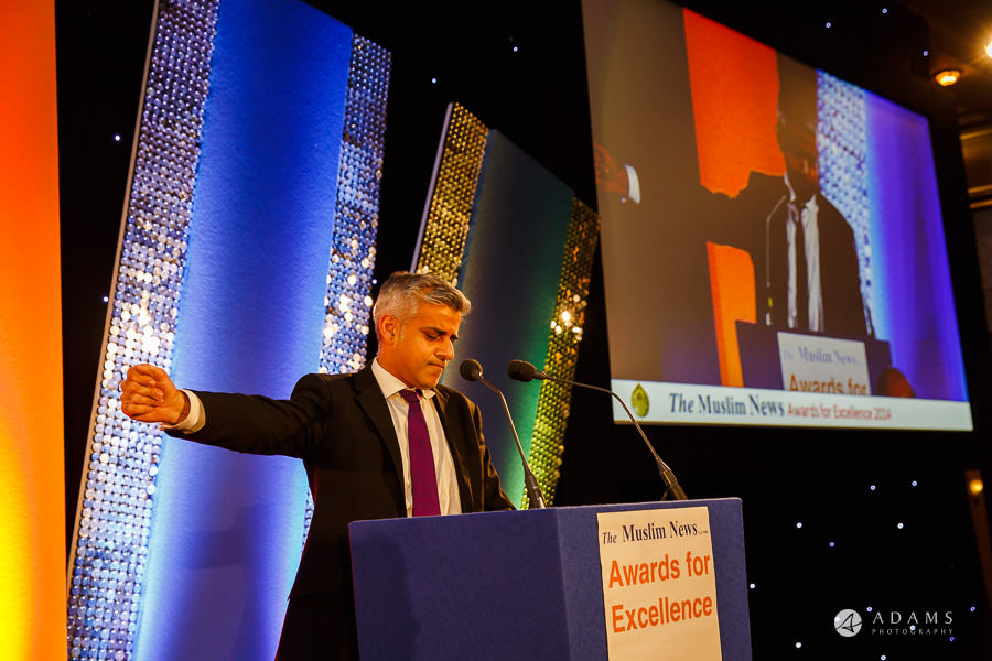 London event photographer Sadiq Khan Major of London speech