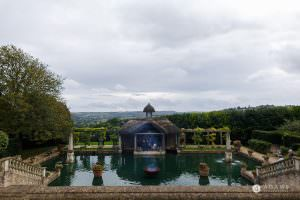 the lost orangery wedding photographer view of the pond