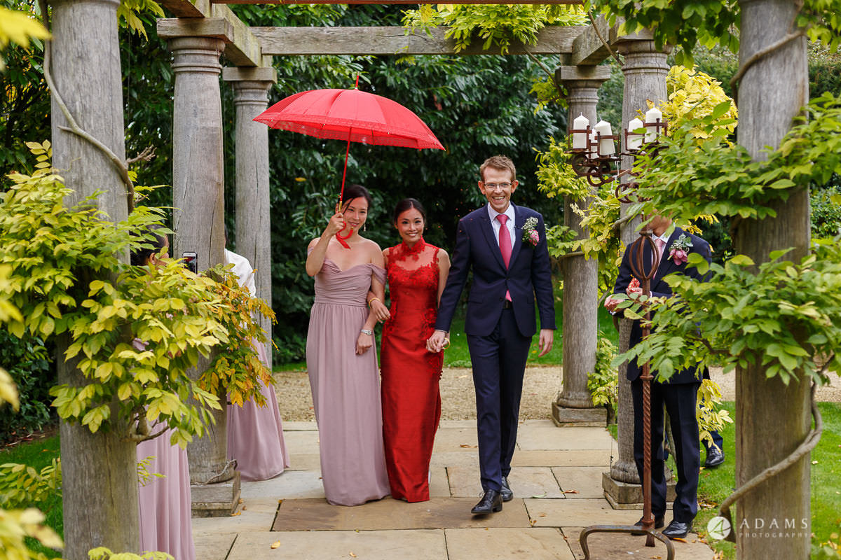the lost orangery wedding Chinese ceremony about to start