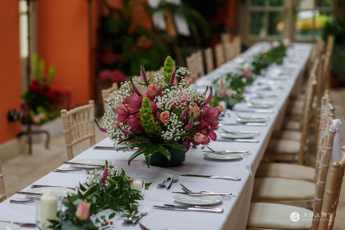 the lost orangery wedding photography dinner table details