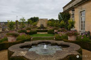 The Lost Orangery Wedding photography of the fountain garden