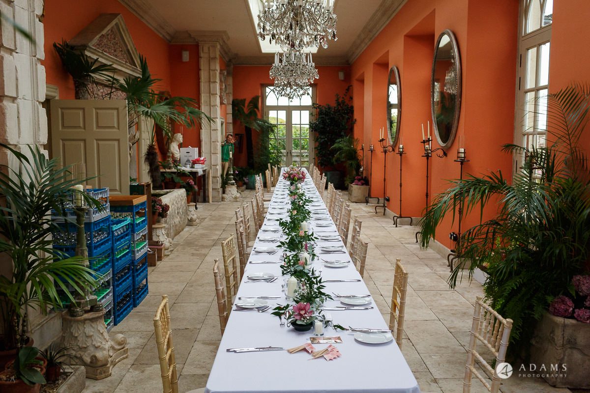 the lost orangery wedding photography of the long table