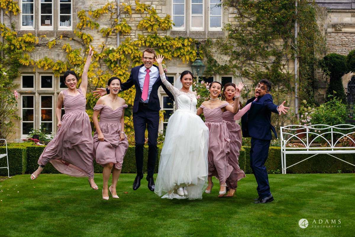 the lost orangery wedding photographer bridal party group photo