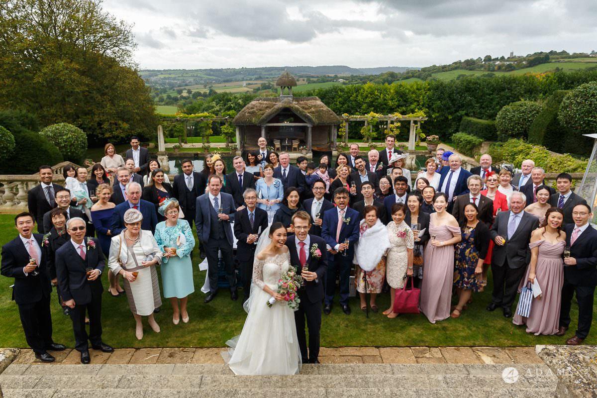 the lost orangery wedding photographer group photo
