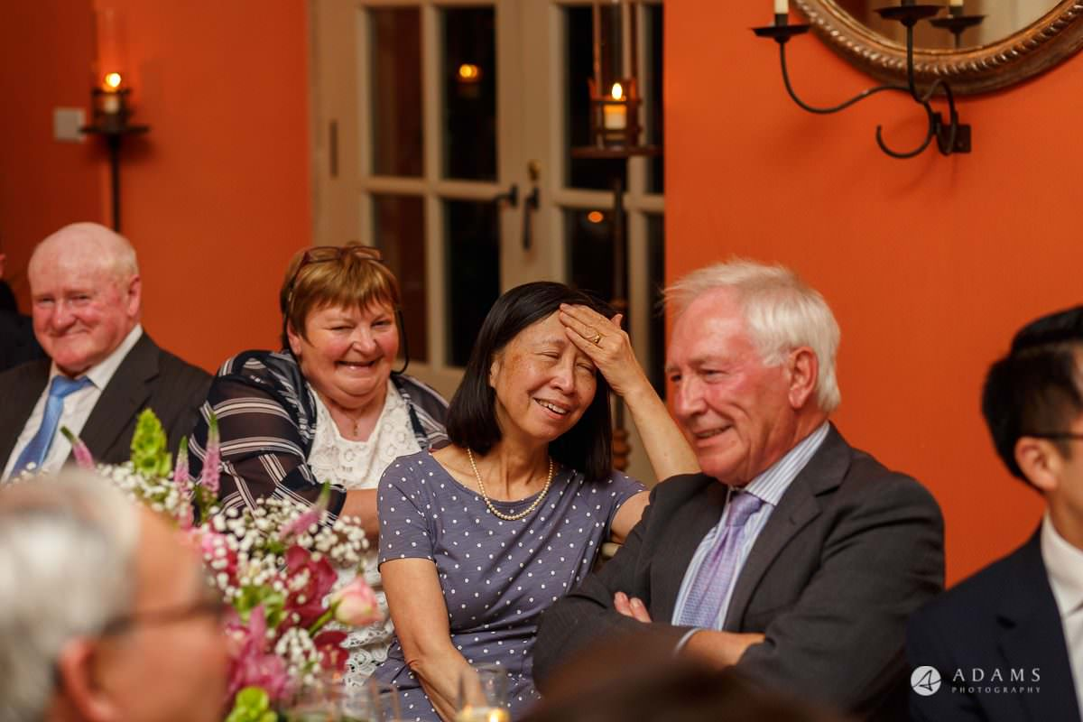 the lost orangery wedding photographer guests are having a good time