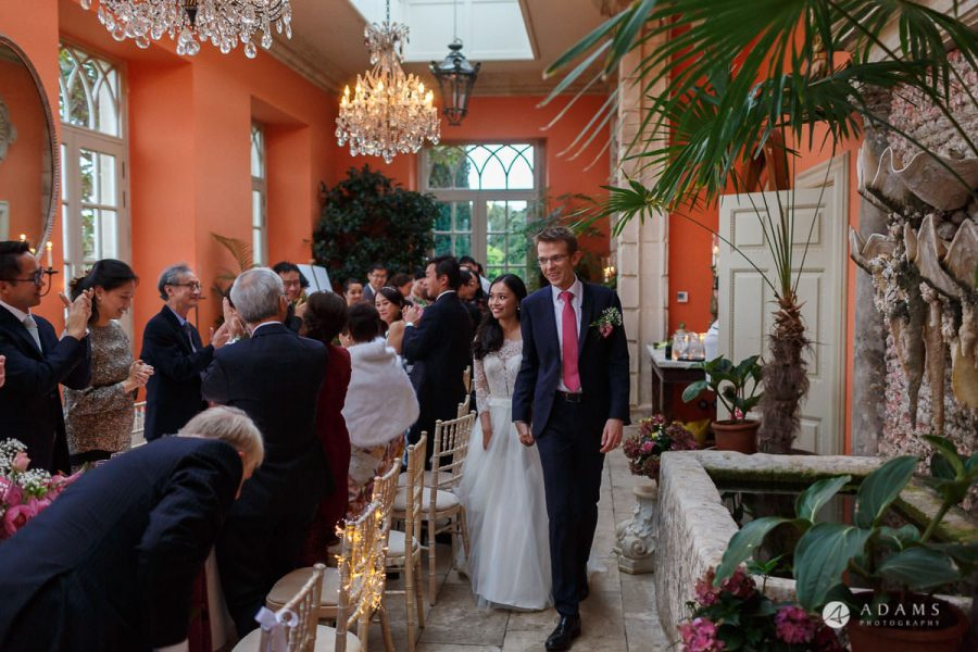 the lost orangery wedding the couple enter the room
