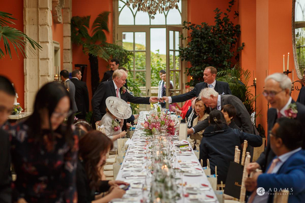 the lost orangery wedding people shaking hands
