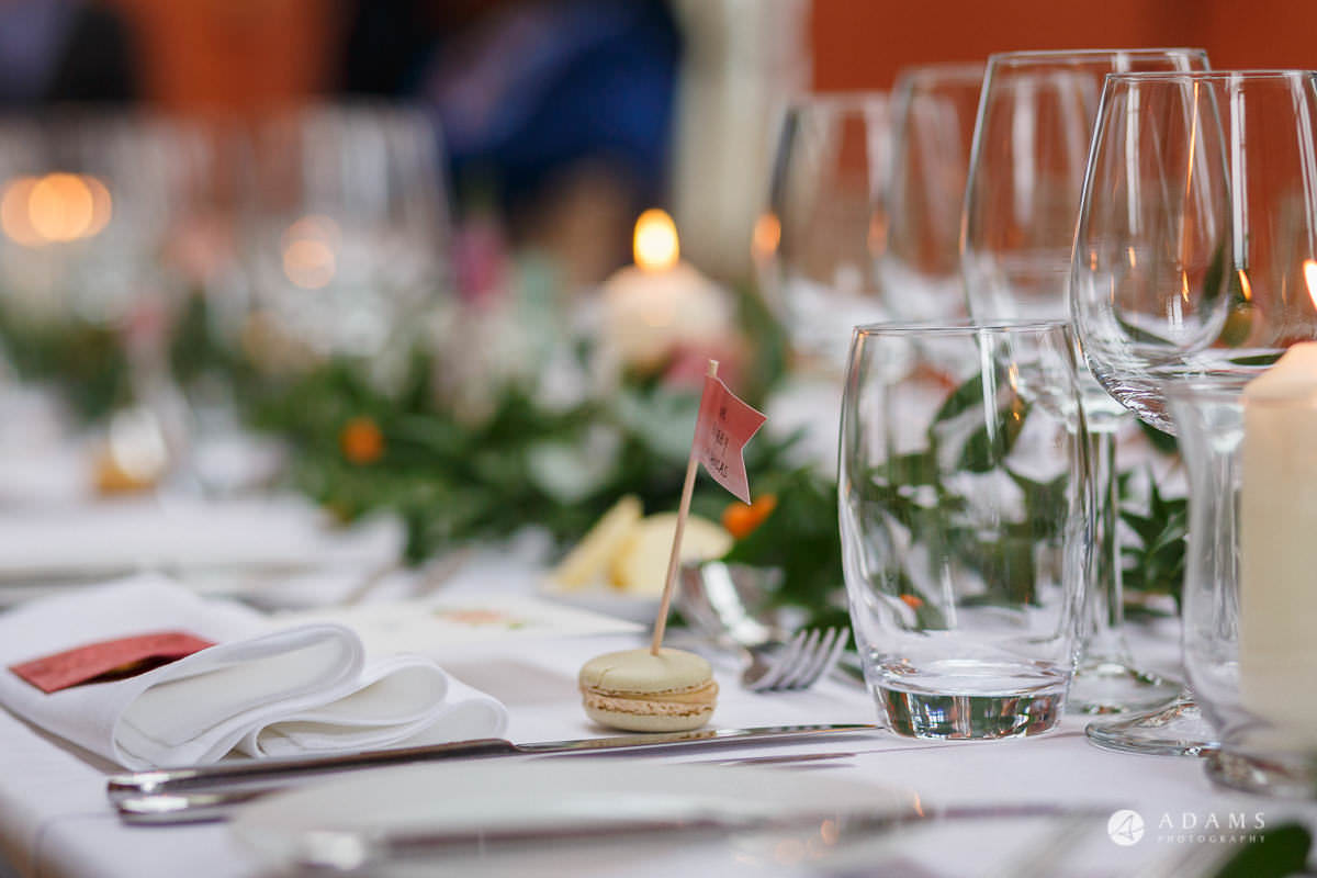 the lost orangery wedding venue table details