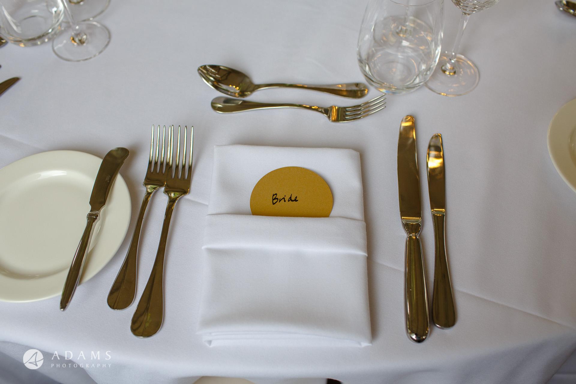 Morden Hall Wedding photo bride table