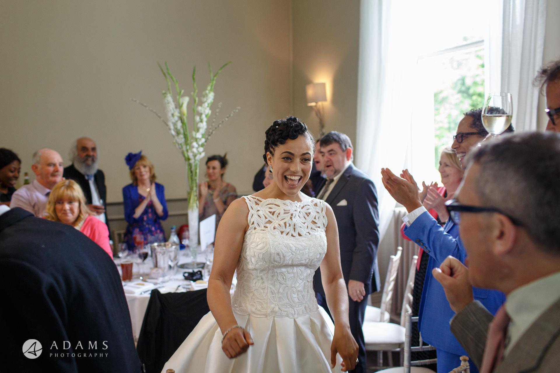 Morden Hall Wedding photo bride enters the room