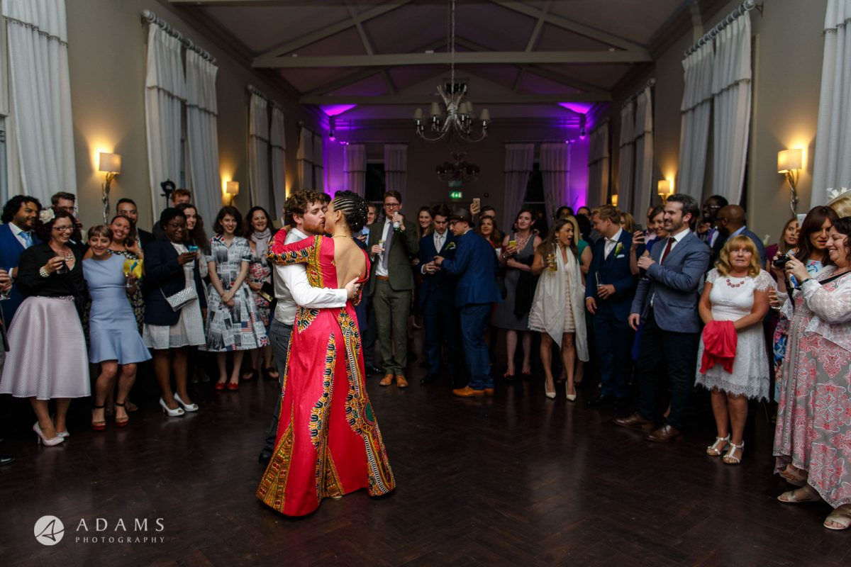 Morden Hall Wedding couple dancing