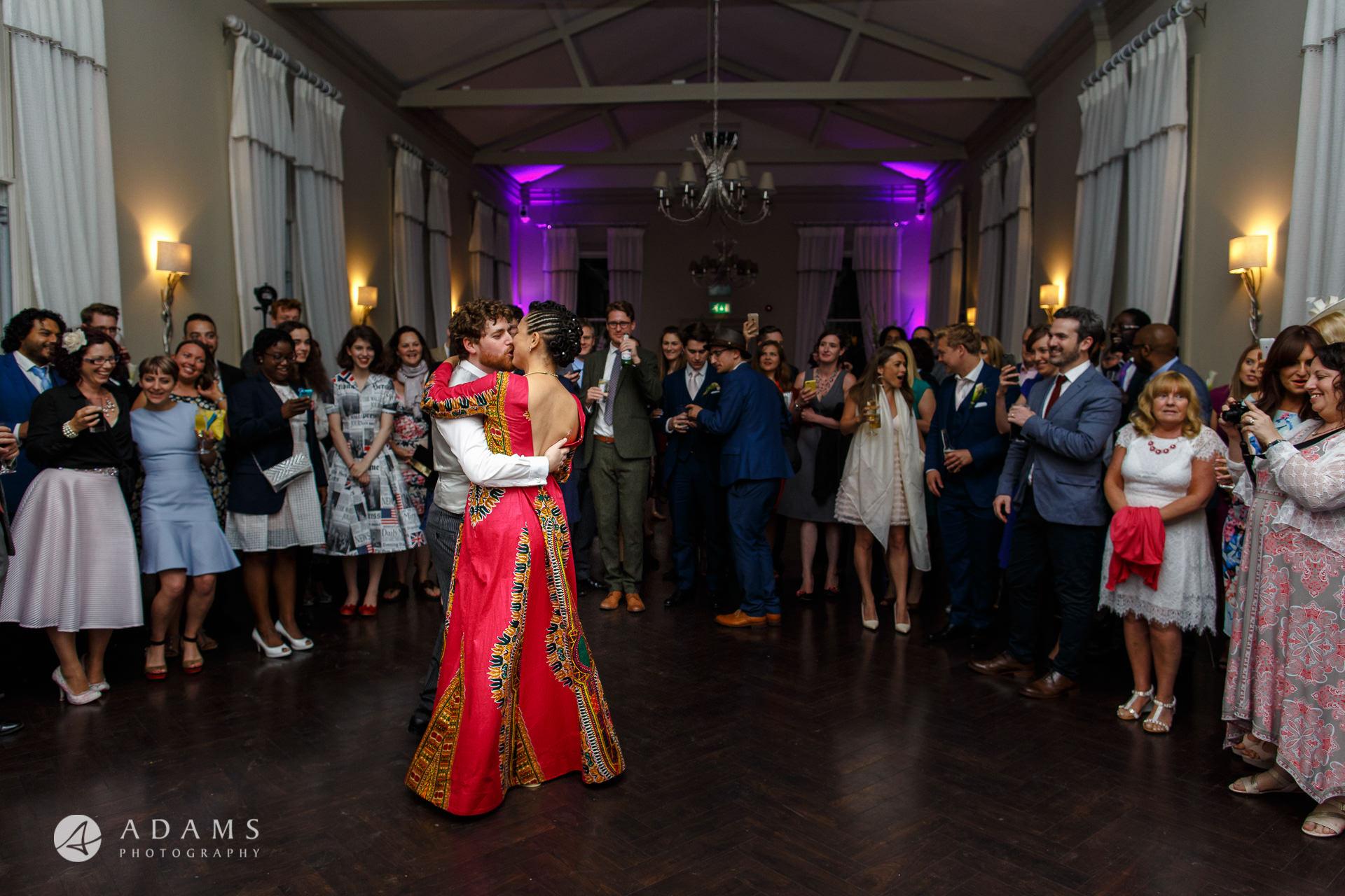 Morden Hall Wedding couple dancing