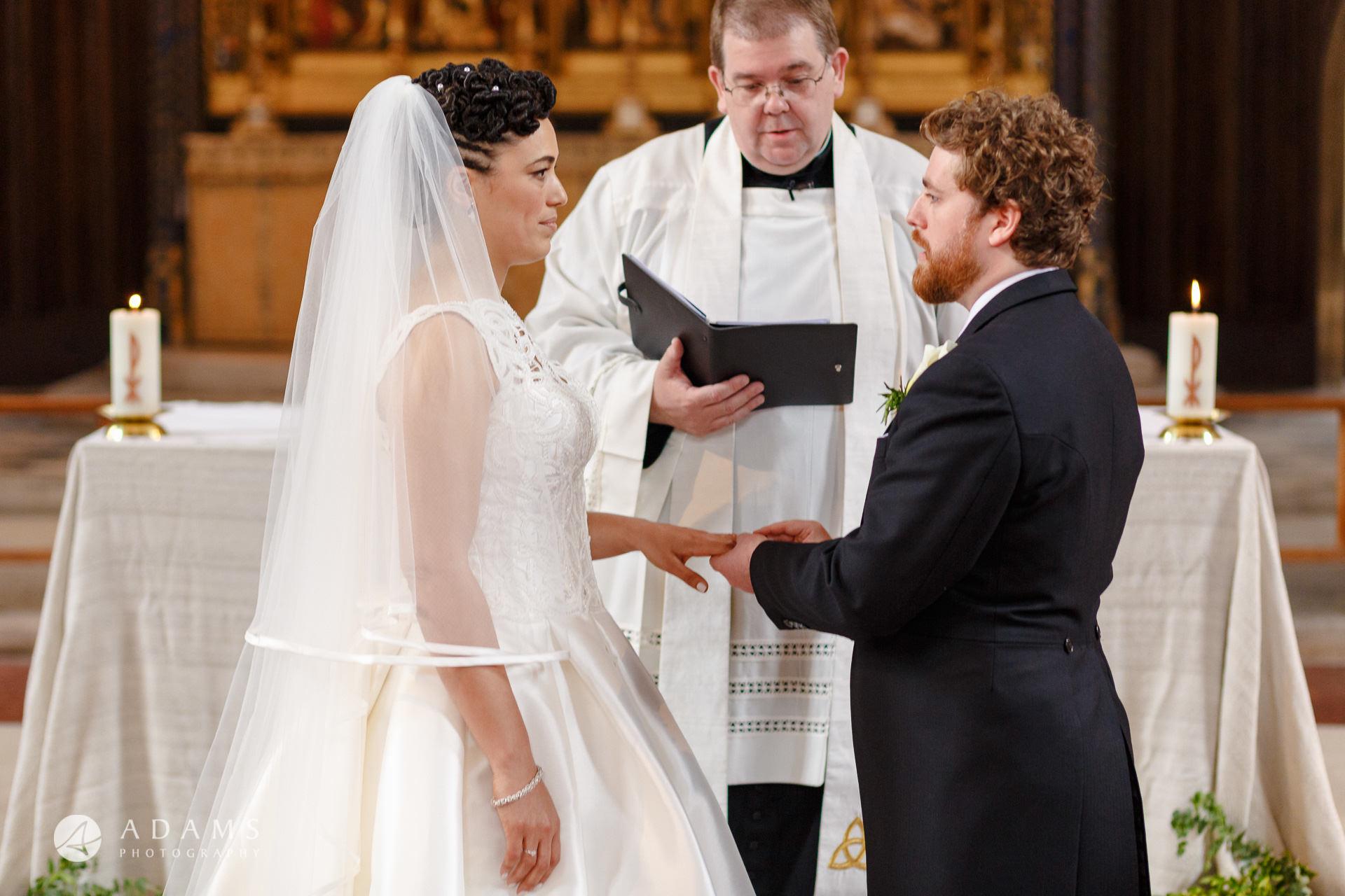 Morden Hall Wedding photo ring excahnge