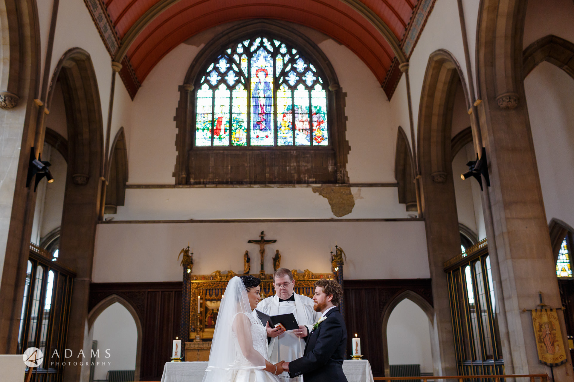 Morden Hall Wedding photo married couple at the alter