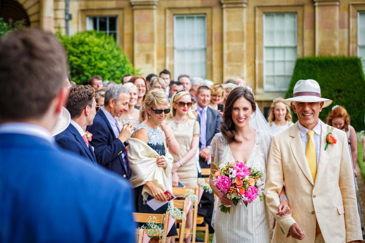 London Wedding Photography Portfolio bride walks down the aisle with her father