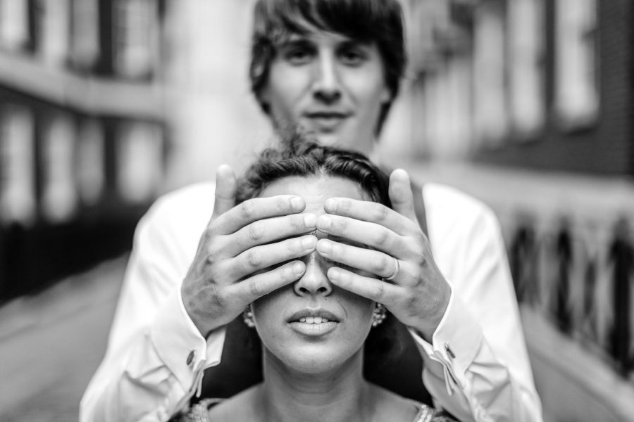 London Wedding Photography Portfolio groom places his hands on bride face