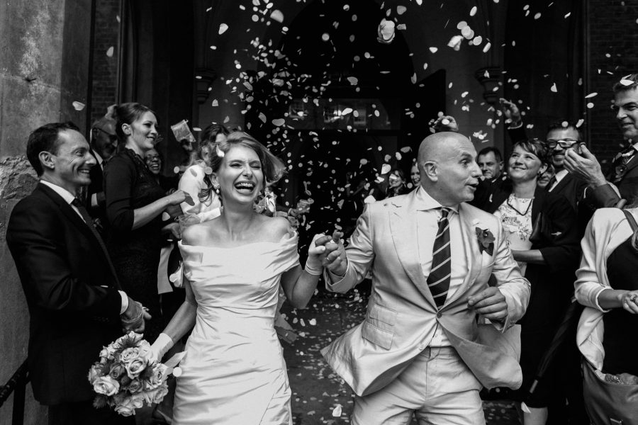 London Wedding Photography Portfolio confetti shower