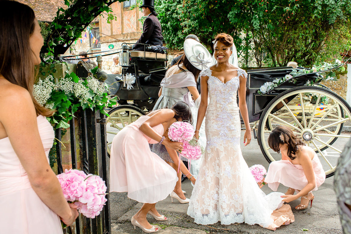 Bride In Front Church Wedding