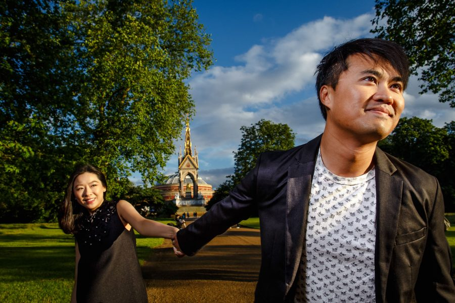 Chinese Couple Pre Wedding Engagement Photos Hyde Park