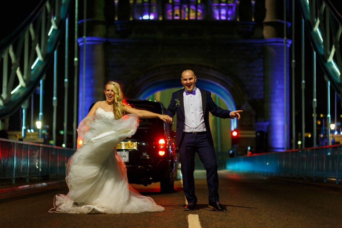 Couple Dancing Tower Bridge
