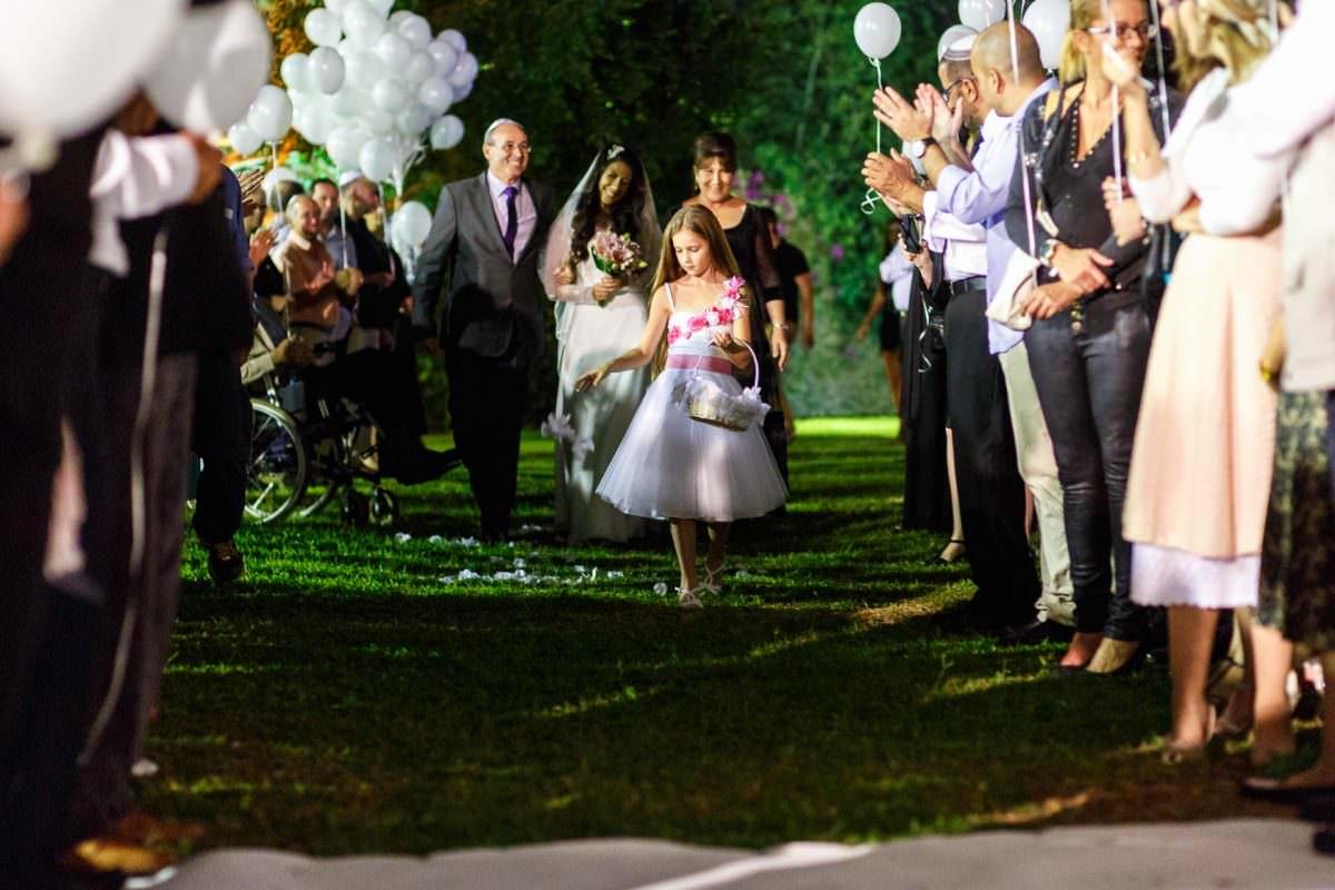 Jewish Wedding Photo Bride Walking Down Aisle