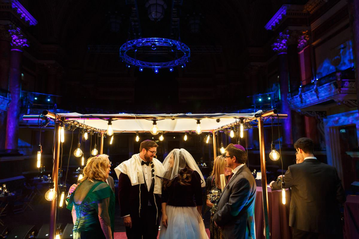 Jewish Couple Under Chuppach