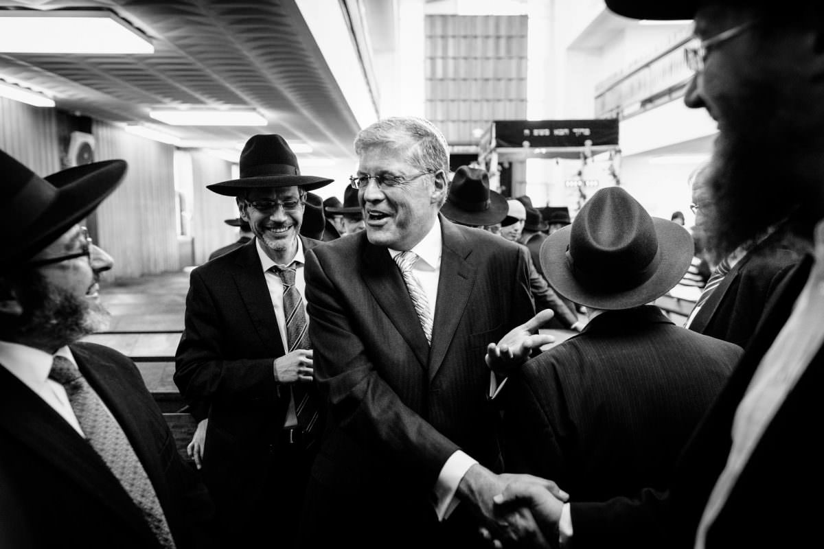 Jewish Father of the Bride Shaking Hands With Guests Photography