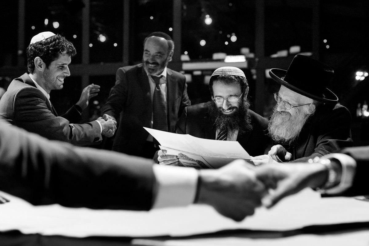 Jewish Groom Signes Ketubah