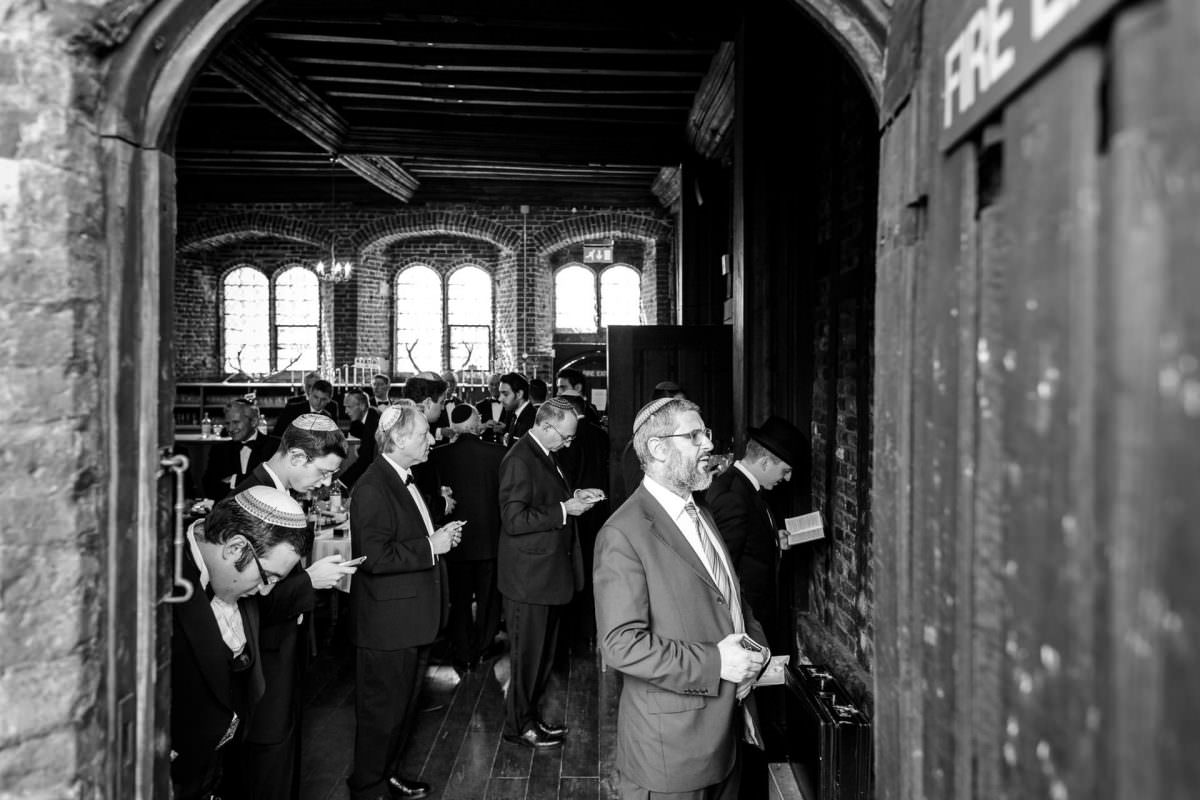 Jewish Wedding Photographer Pray Before Wedding Photo