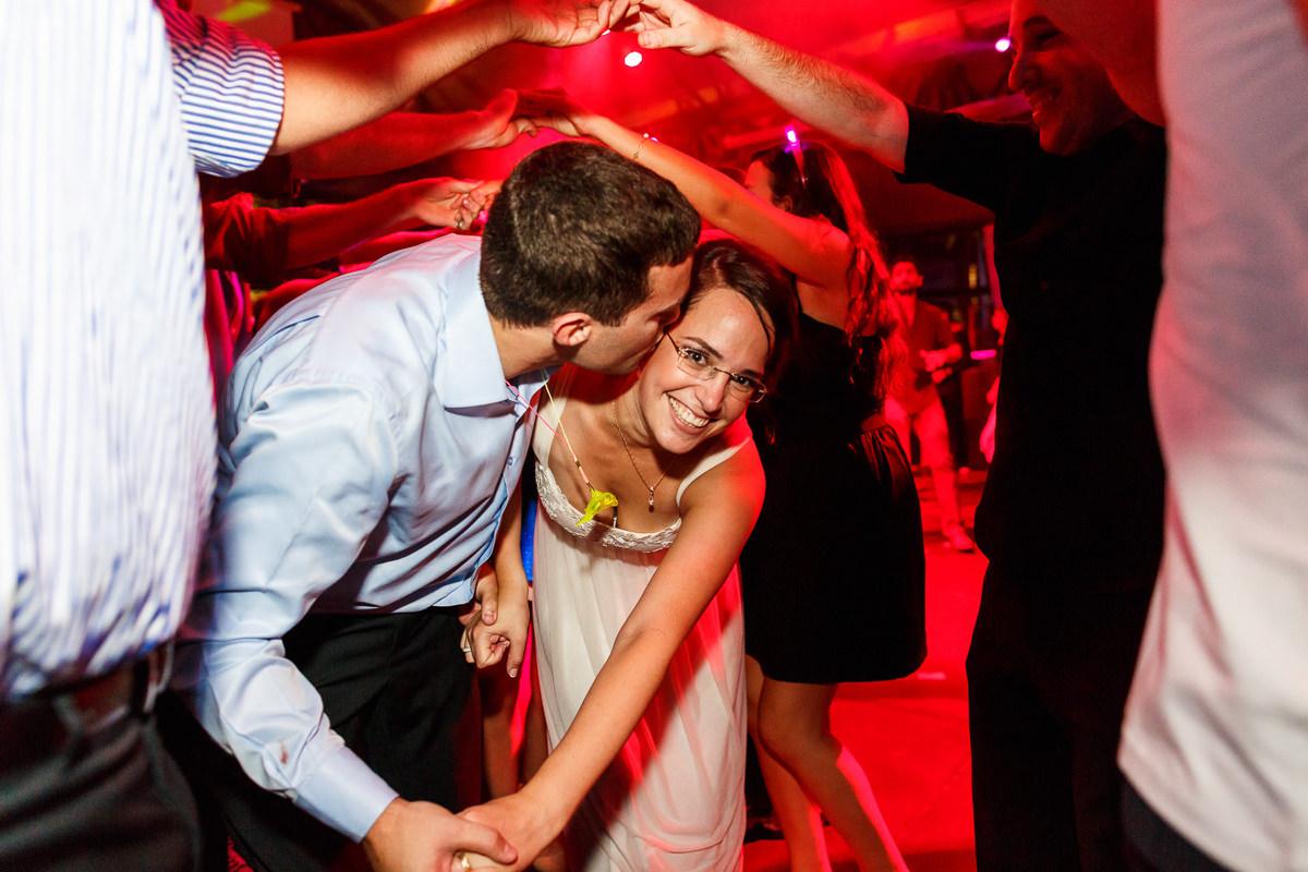 Jewish Wedding Israeli Dance Couple Kissing