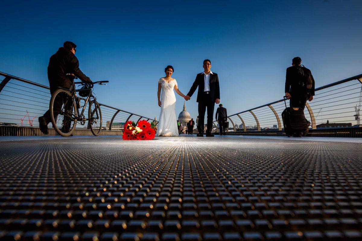 Millenium Bridge London Engagement Photography