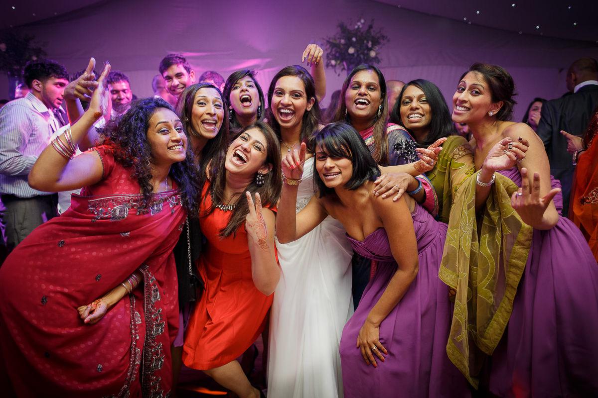 Tamil Bridal Party Dancing Posing