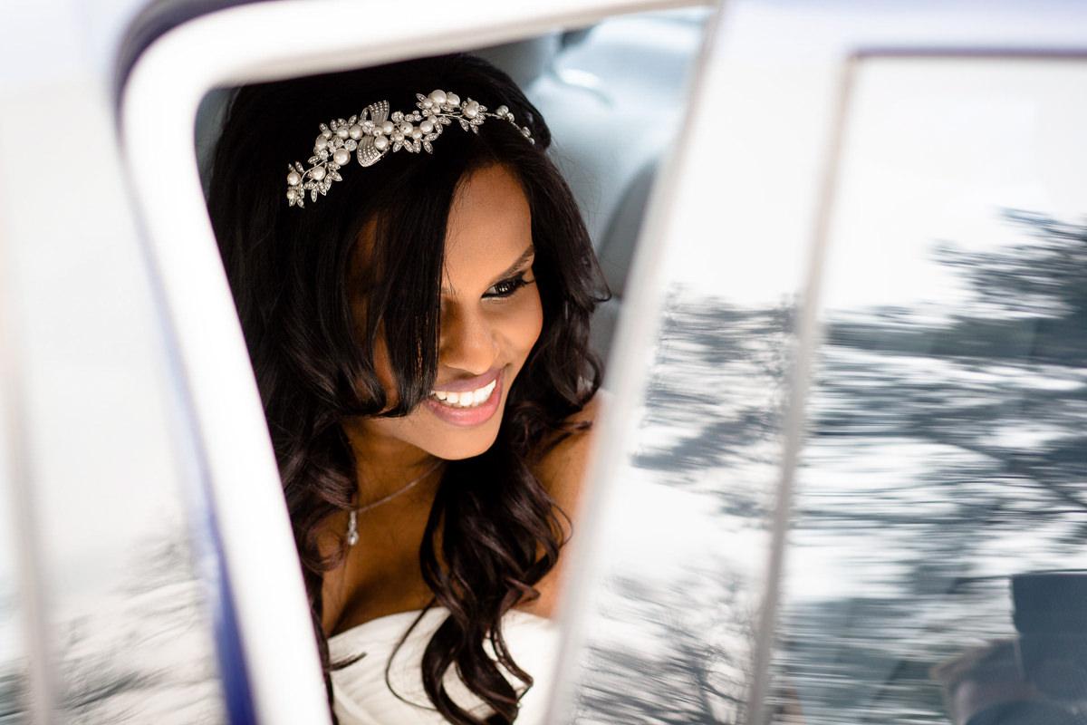 Tamil Bride Getting Of Car London
