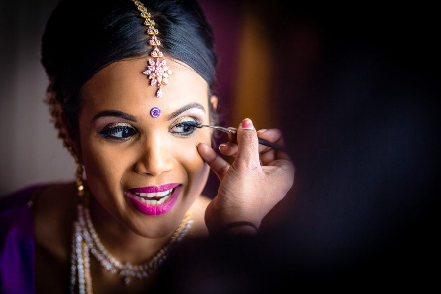 Tamil wedding photographer Bride Getting Ready Fer Wedding London