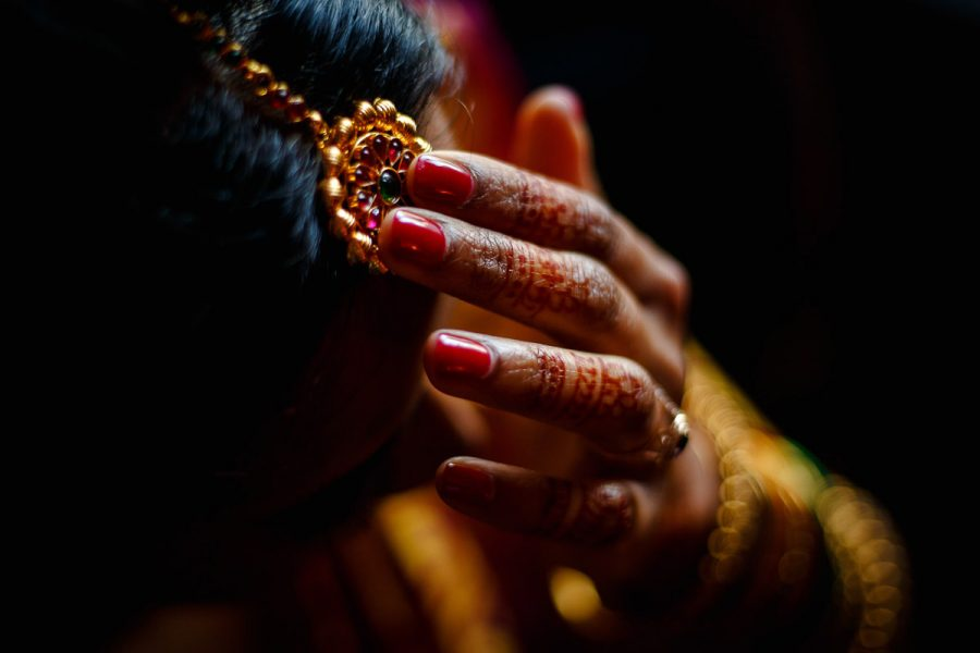 Tamil wedding photography Bride Hair Accesories