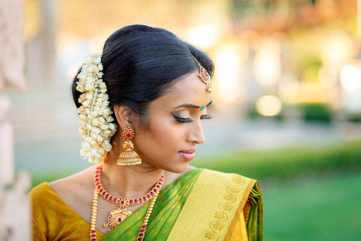 Tamil Bride Portrait Before Hindu Wedding