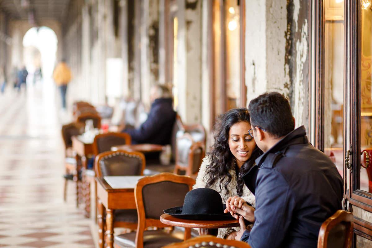 Tamil Couple Engagement Photo Session Venice