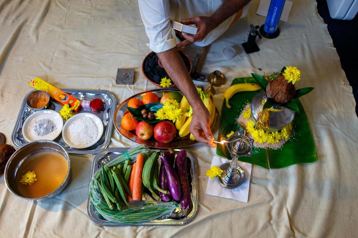 Tamil Gold Melting Ceremony For Thali