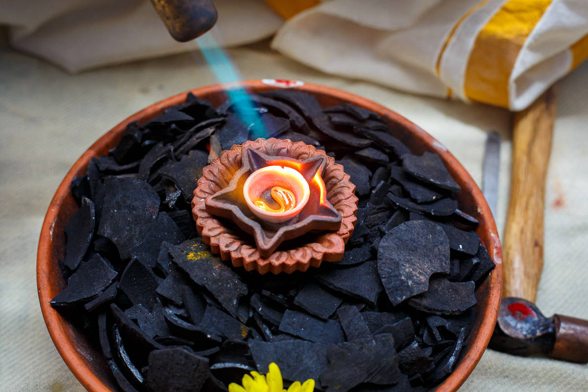 Tamil Gold Melting Ceremony