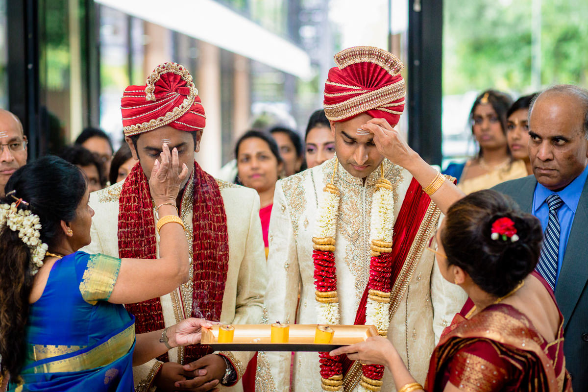 Tamil Hindu Ceremony At Entrance London