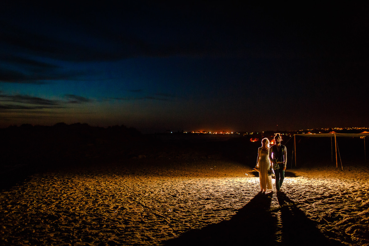 Blue Hour Wedding Sessio With Couple