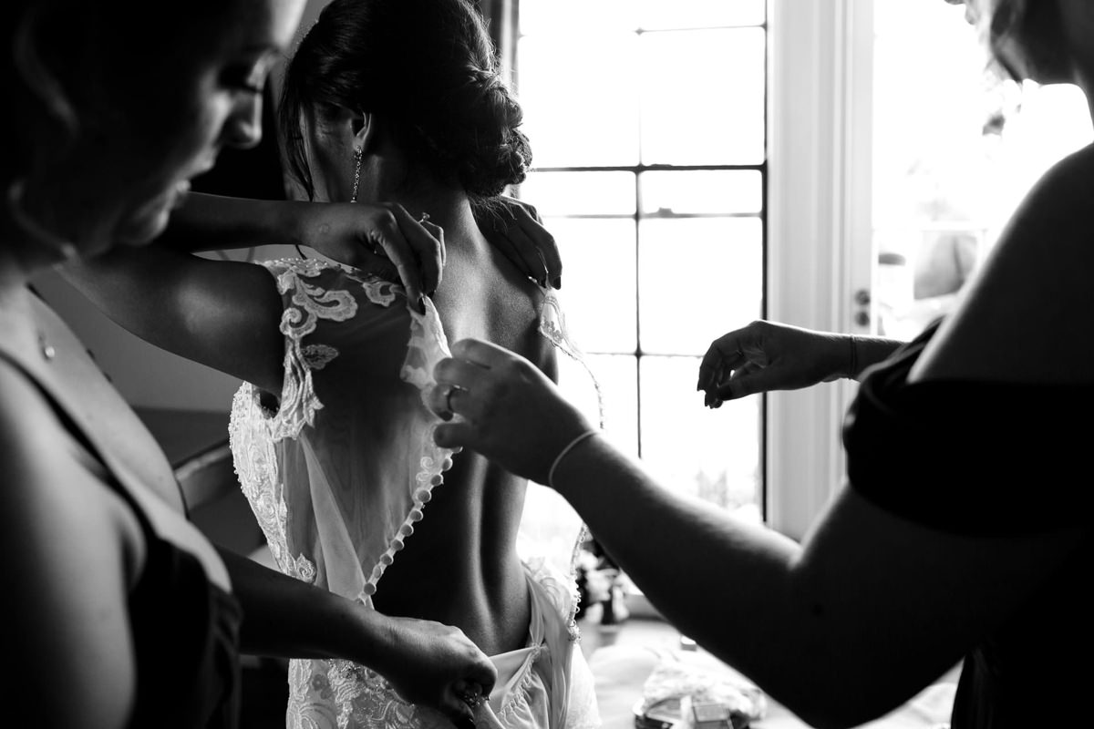 Bride Getting Ready For Her Wedding