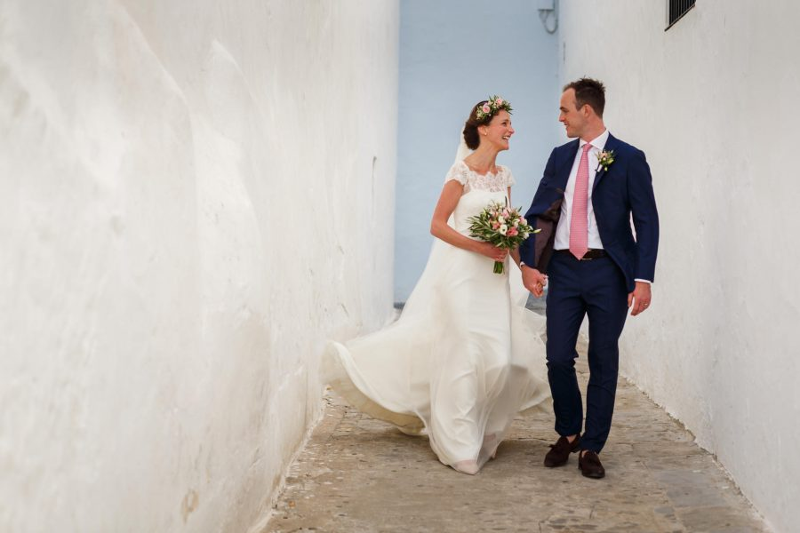 destination wedding photography couple walks during the photo shoot