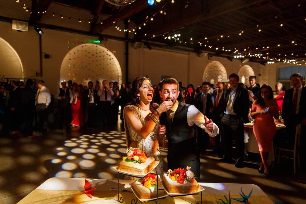 Photo Of Cake Catting At Wedding London