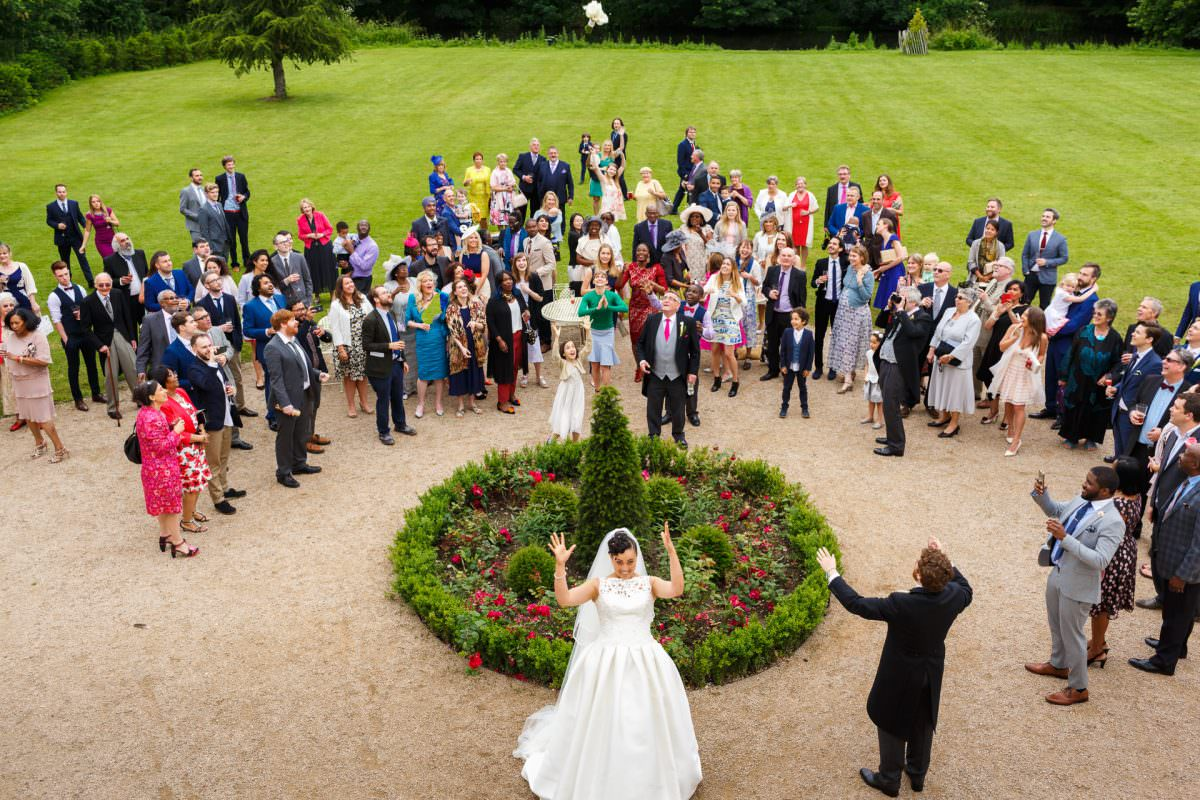 Throwing Bouquet At Wedding