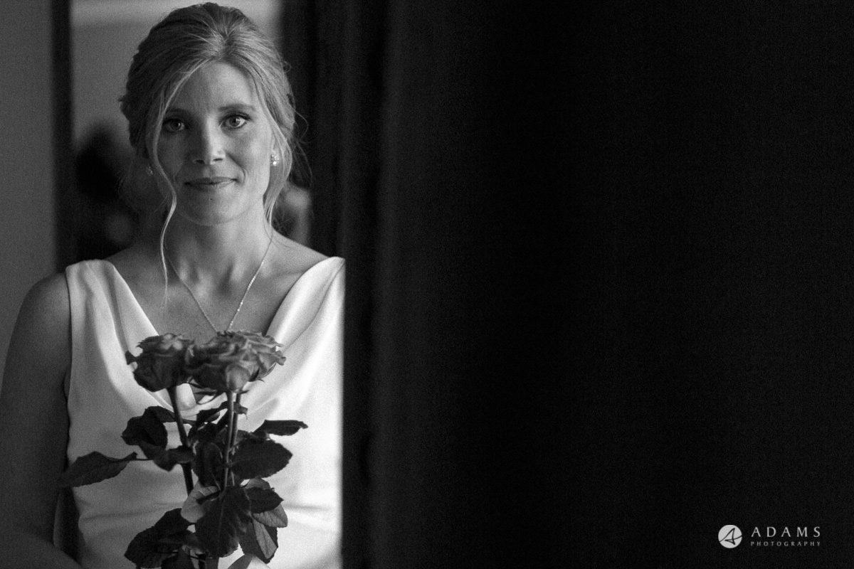 Camden Town wedding bride by the window