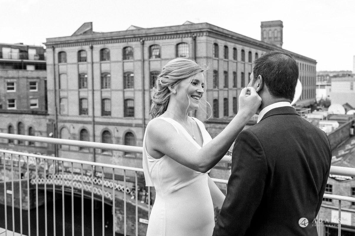 Camden Town wedding first look