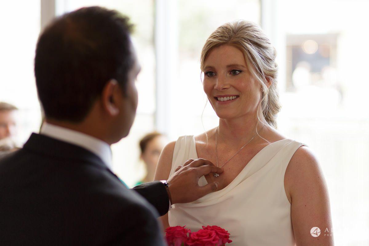 Camden Town wedding groom welcomes the bride